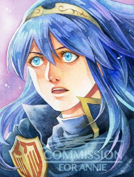 COMMISH : LUCIANA_FIRE EMBLEM by Ecthelian