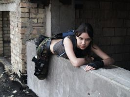 Lara Croft - on the roof by TanyaCroft