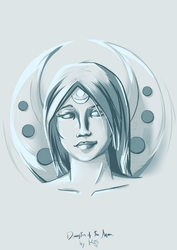 Daughter of The Moon - Sketch by KTOb