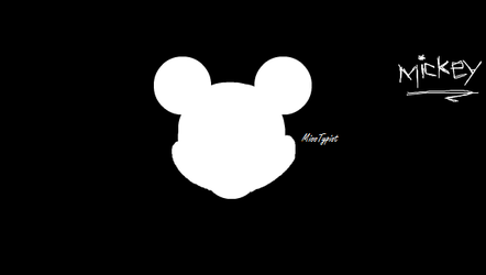 Micky Mouse silhouette by MissTypist