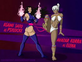 Halloween Jam '13: Korra and Asami by Coonfoot