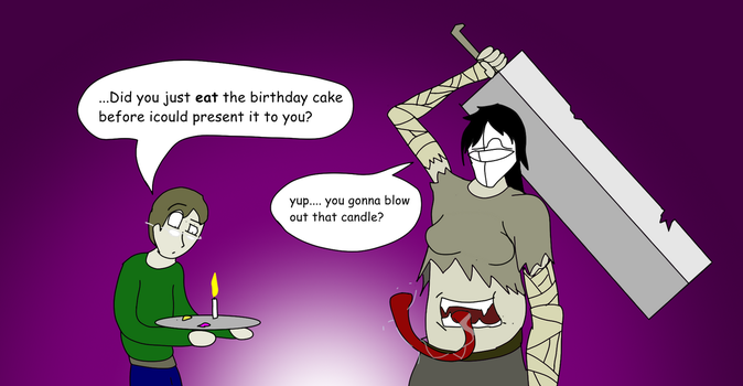 Pandora + Cake= no cake by MethusulaComics