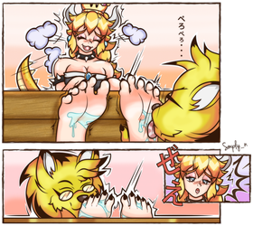 Commission: Bowsette's Worship by simplyNTK