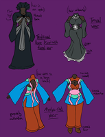 Drowtales OC: Outfit concepts by talentualEmbrace