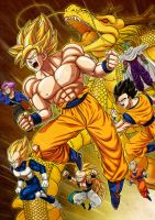 dragon ball Z Warriors by oume12