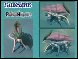 Suicune papercraft by javierini