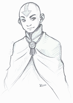 Older Aang by Fennethianell