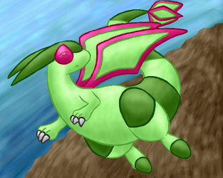 Flygon by LilWhiteMage