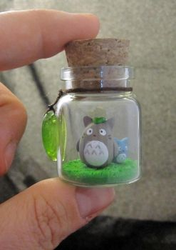 My Neighbor Totoro Bottle Art by egyptianruin