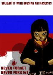solidarity with russian antifa by zerocalcare