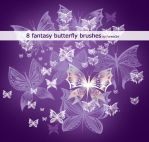 8 fantasy butterfly brushes by ForestGirl