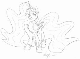 Princess Twilight {free to color} by PitterPaint