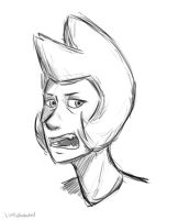Yellow Diamond doodle by LittleSnaketail