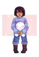 Frisk - Undertale - with Cryaotic Sup Guy by Naimly