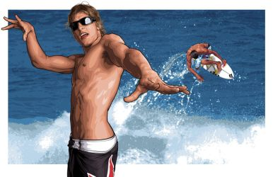 2007 Oakley Ad Art 18 of 22: Bruce Irons Part Deux by meltendo