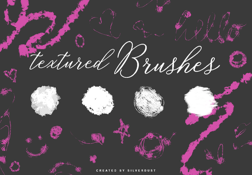 Textured Brushes | by  SilverDust by Marevasart