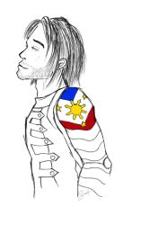 Winter Soldier with Philippine Flag by SabineDraws