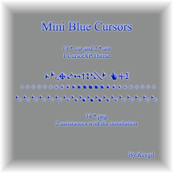 Mini Blue cursors by Kevgil