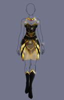 (closed) Auction Adopt - Goldie Outfit by CherrysDesigns