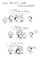 Team Free Will meets John Winchester by worrynet