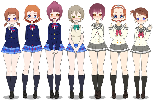 Kisekae: Love Live Supporters [+EXPORTS] by cragy-paste