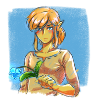 Breath of the Wild Link doodle by dattebayo34