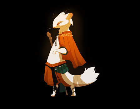 weasel monk by oukamiyoukai45