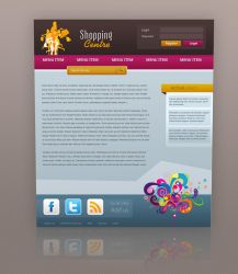 Shopping Centre Web Template by Martz90