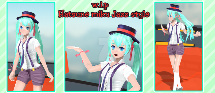 .:J11-Wip Hatsune miku Jazz Style :. by johnjan11