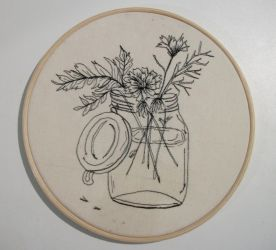 Flowers (embroidery) by ThaisMelo