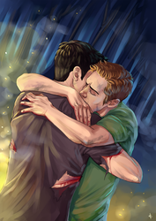 Teen Wolf FanArt: First Embrace by NinaKask