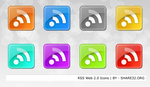 RSS Shiny Icons Web 2.0 by share32