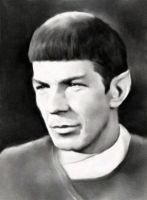Spock black and white by karracaz