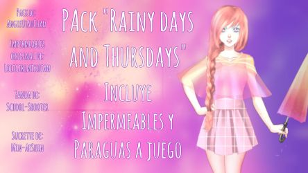 (Pack) Rainy Days and Thursdays by AngieUtauChan