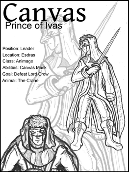 Character Sheet: Canvas by EvilTelephone