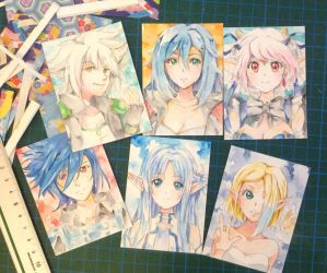 Cut out ACEO cards by PastelCake