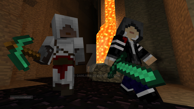 Minecraft: Altair and Alex mercer by Danlix68