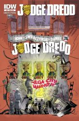 IDW JUDGE DREDD 26 Subscription Cover by mytymark
