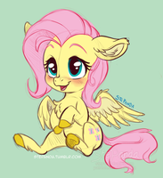 FlutterShy Sketch by StePandy