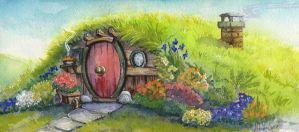 Hobbit Hole- A Happy Birthday To Professor Tolkien by lunatteo