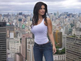 Giant Denise Milani visiting the Brazil by bcgfdfshggd