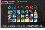 Flat Colors Icon Set - PREVIEW #3 by dAKirby309
