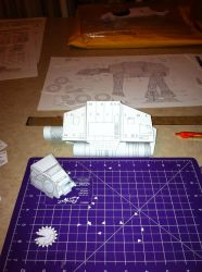 AT-AT (starwars) papercraft by steveeasye187