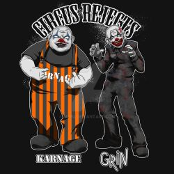 Karnage and Grin by m3ru
