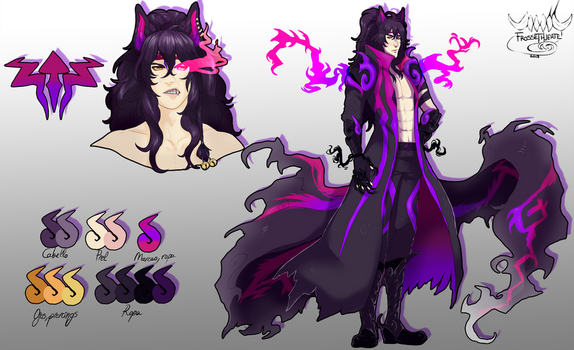 [Commission] Cerberus reference sheet by FrossetHjerte