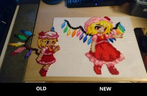 Scarlet Flandre (old vs. new) by MagicPearls