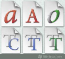 Font Filetypes - Icon by ssx