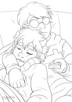Karkat and Dave lineart by FreakyVicky