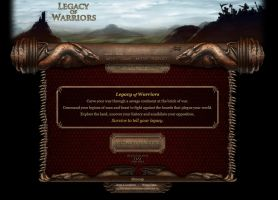 Legacy of Warriors website by melvindevoor