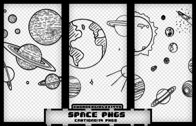 Space/Planets-pngs by XWondergirlzX1995